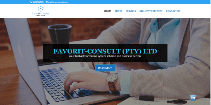 Image Representing FavorIT Consult's Website