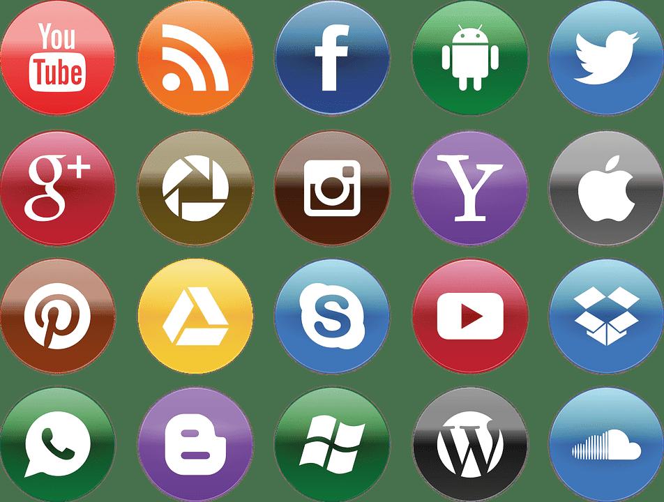 Social Media marketing logo of social media platform